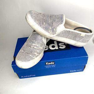 KEDS Women's White 8.5 SlipOns